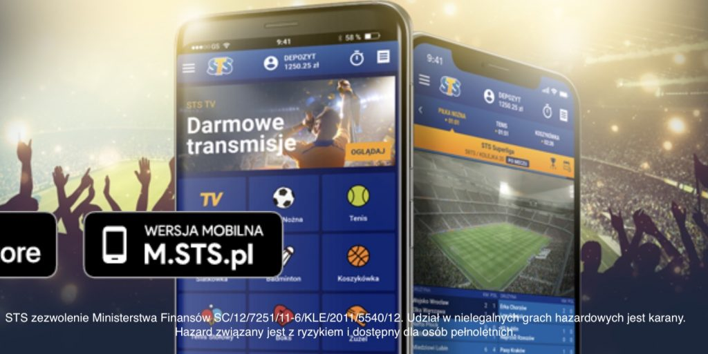 STS na telefonie. Legalne obstawianie meczów na iOS oraz Android!