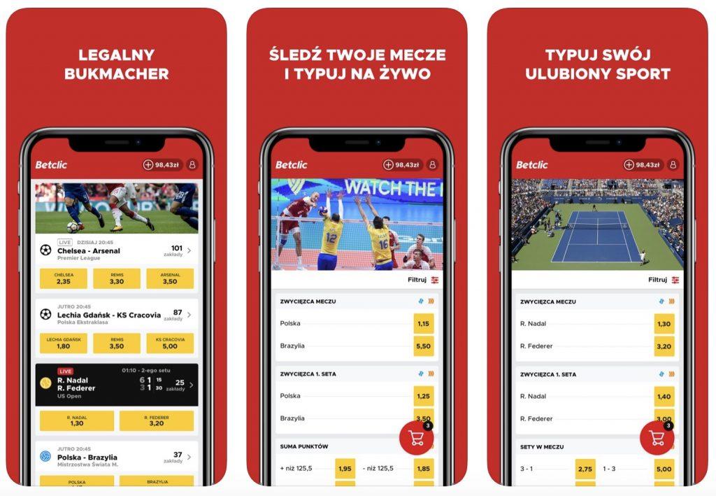 betclic aplikacja mobilna. Android i iOS